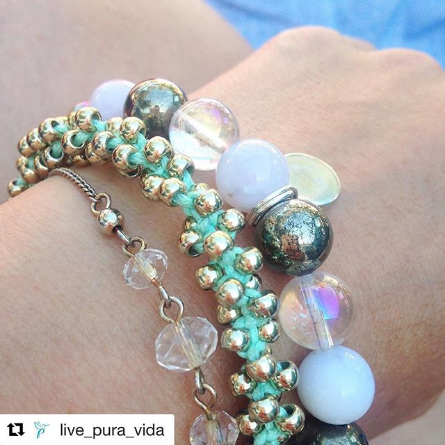 Thanks to @live_pura_vida for posting this pic of her Serenity Bracelet. Look how the mystic quartz shines in the sun  ・・・ #livepuravida #karmafeeling #bracelets #crystals #jewellery #wellbeing #lovelife #yoga #yogainspiration #fitness #fitspo #spiritual #spirituality #meditation #serenity #worldpeace #love #reflexology #reiki