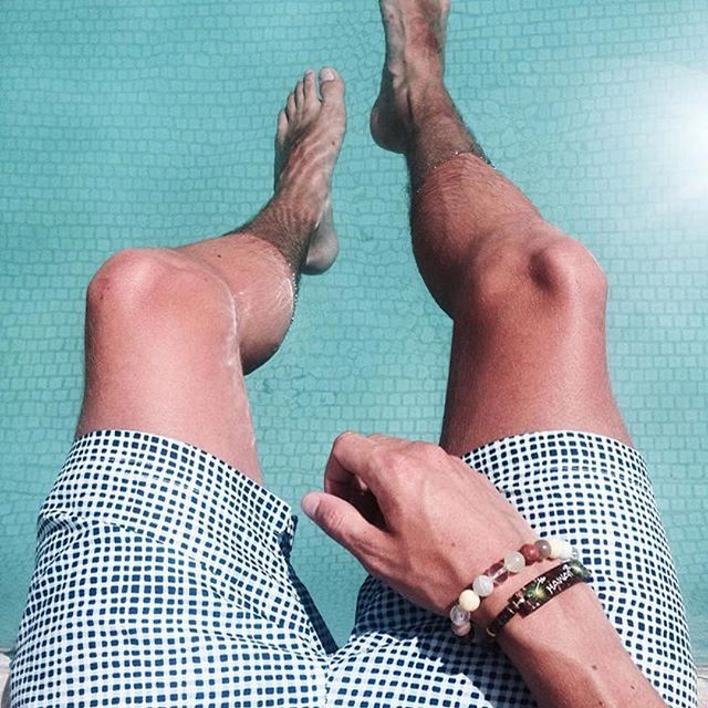 Thanks to male blogger @liampitts for posting this holiday pic of his bracelet in #hawaii ・・・
