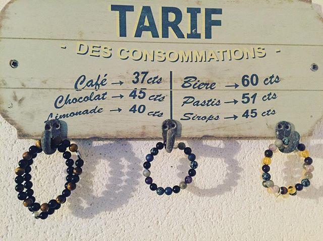 Left our #karmafeeling crystal bracelets charging in the sun today! #happiness #yogainspiration #yoga #jewellery #bracelet #crystals #crystalhealing #fitness #fitsporation #holistic #holidays #ilederé #france #vegan